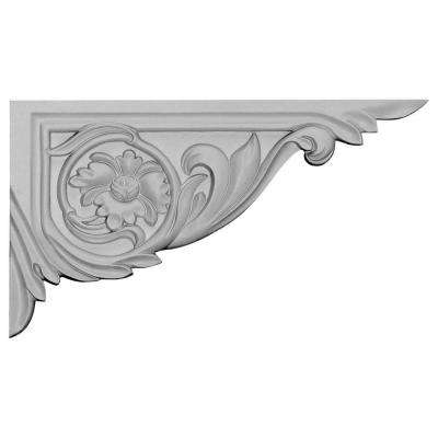 5/8 in. x 11 in. x 6-1/4 in. Polyurethane Right Vincent Stair Bracket Moulding