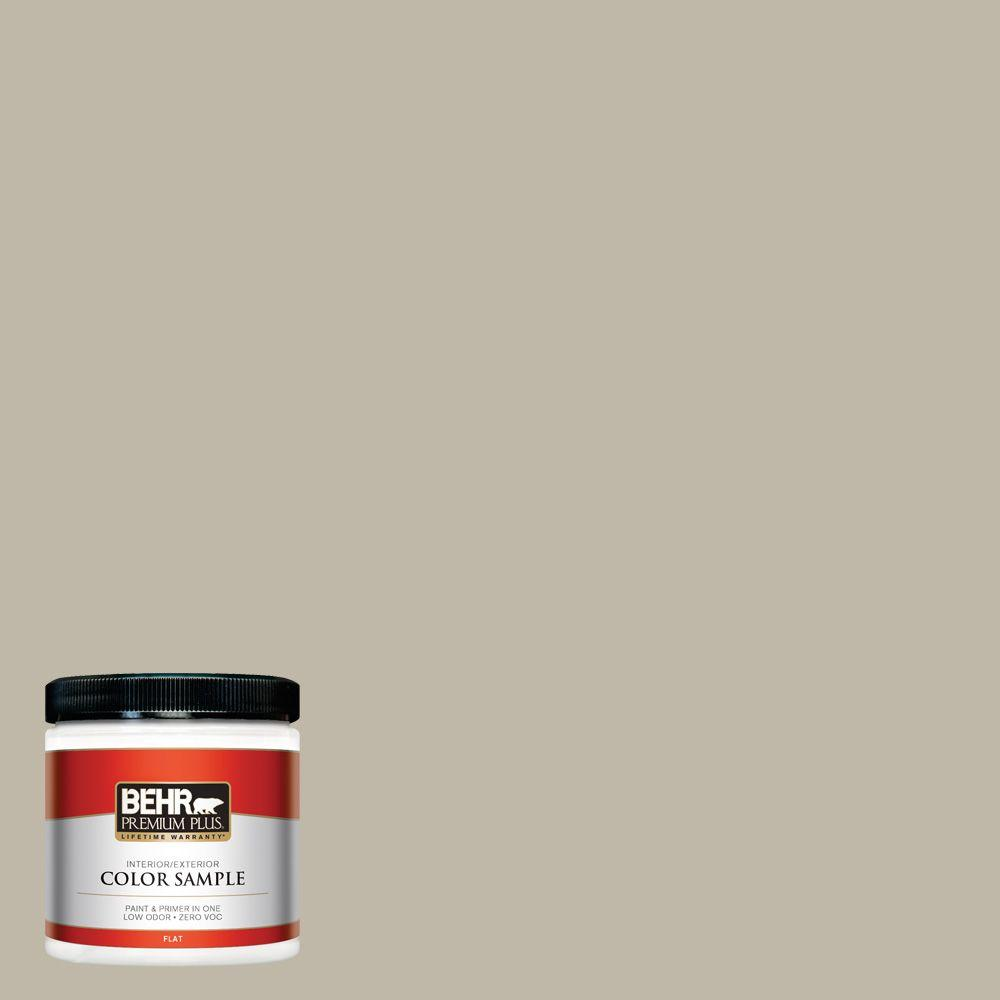8 oz. #BXC-19 Historical Ruins Flat Interior/Exterior Paint and Primer in