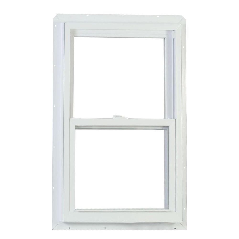 Jeld wen 30 in x 54 in v 2500 series single hung vinyl for Andersen windows u factor