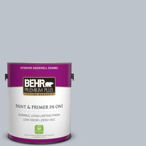 1 gal. #N490-2 Icicles Eggshell Enamel Zero VOC Interior Paint and Primer in One
