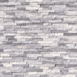 Alaska Gray Split Face 12 in. x 12 in. x 10 mm Textured Marble Mesh-Mounted Mosaic Tile (10 sq. ft. / case)