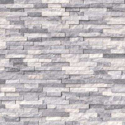 Alaska Gray Split Face 12 in. x 12 in. x 10 mm Marble Mesh-Mounted Mosaic Tile (10 sq. ft. / case)