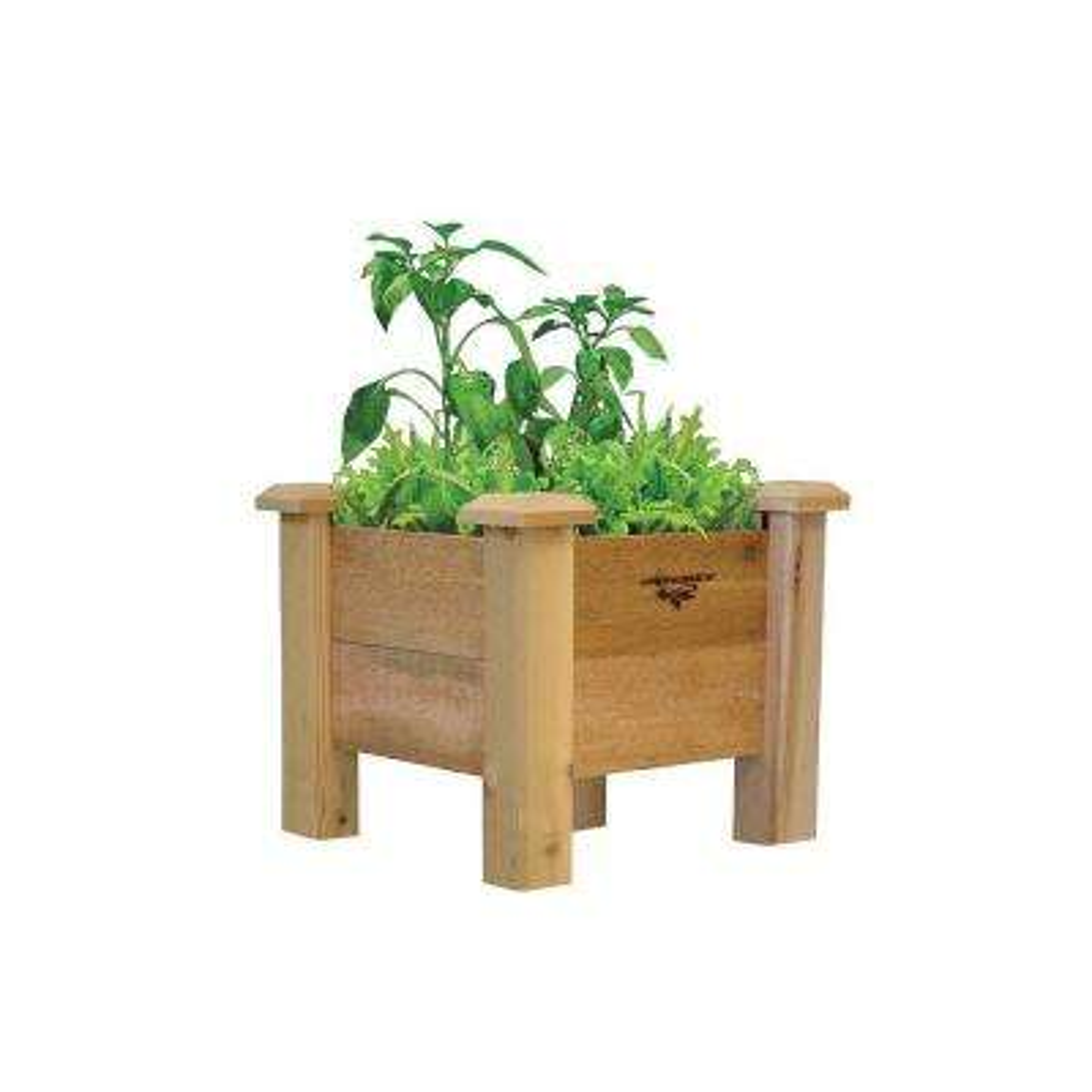 18 in. x 18 in. x 19 in. Rustic Planter Box