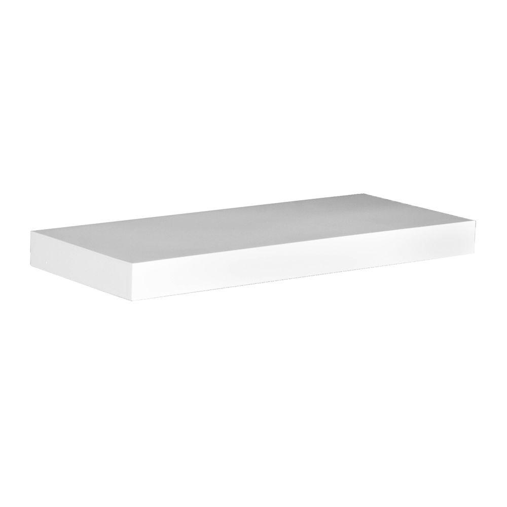 Southern Enterprises Milson 10 in. x 36 in. Floating White Decorative Shelf