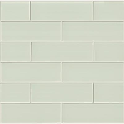 Arctic Ice 4 in. x 12 in. Glossy Glass White Subway Tile (5 sq. ft. / case)