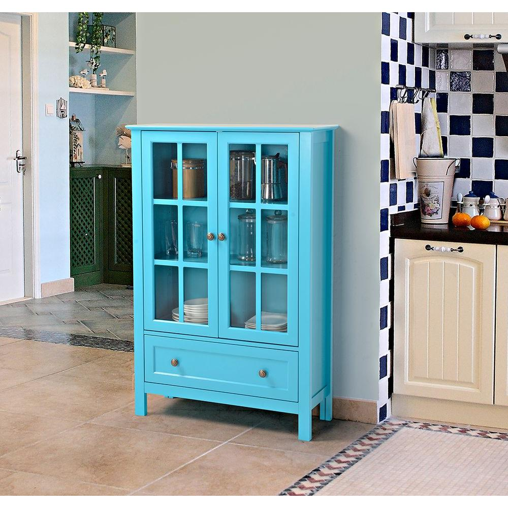 Blue Storage Cabinet-Z1510334B - The Home Depot