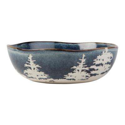 Forest Reactive Glaze 48 oz. 1-Piece Midnight Blue Serving Bowl