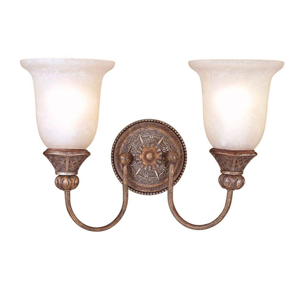 Minka lavery aspen ii 2 light bronze sconce 1975 1 138 the home depot 2 light bronze sconce aloadofball Image collections