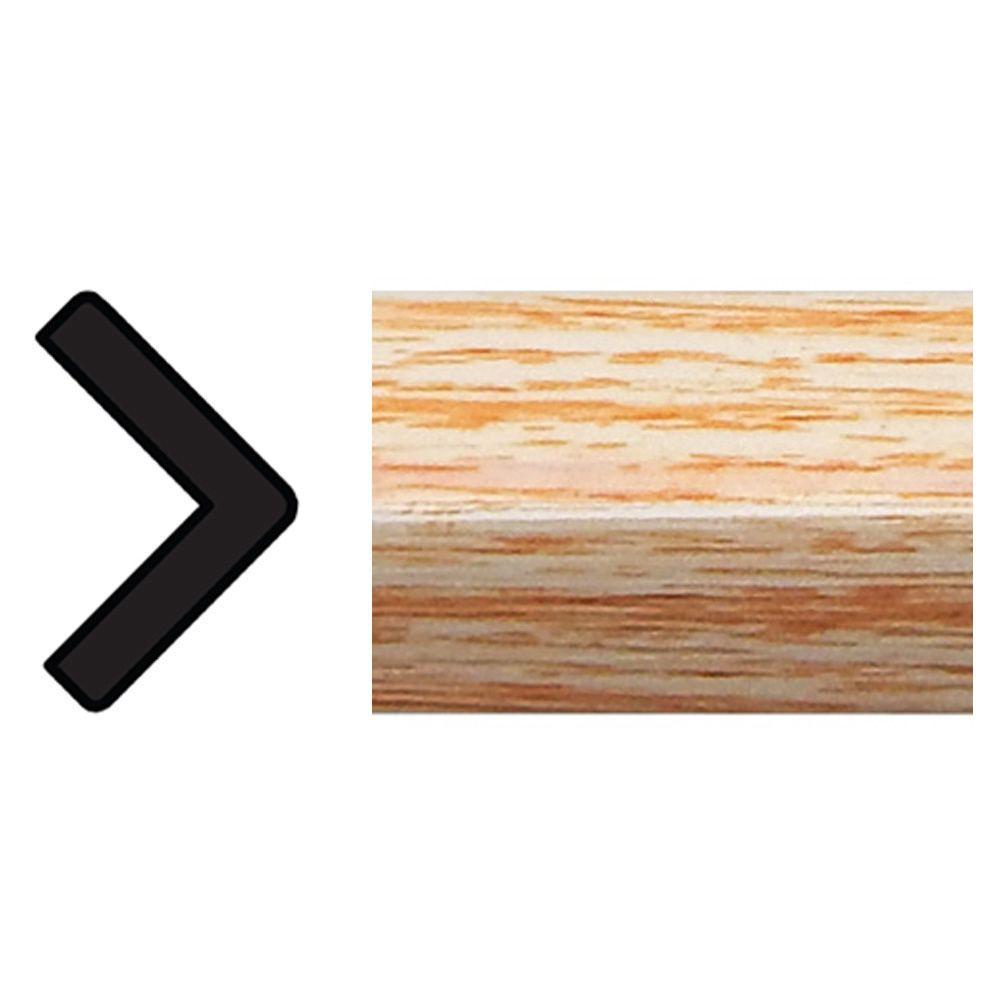 11/16 in. x 11/16 in. x 96 in. Polystyrene Clearwood Outside Corner Moulding