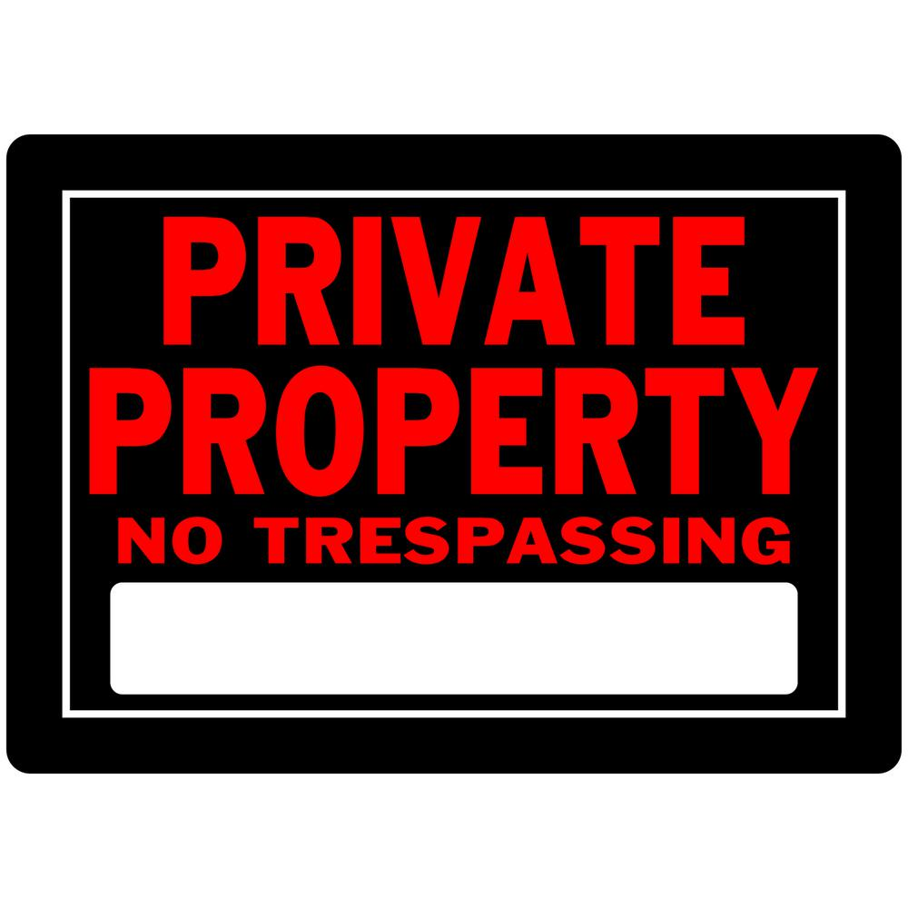 Everbilt 10 in. x 14 in. Aluminum Private Property Sign