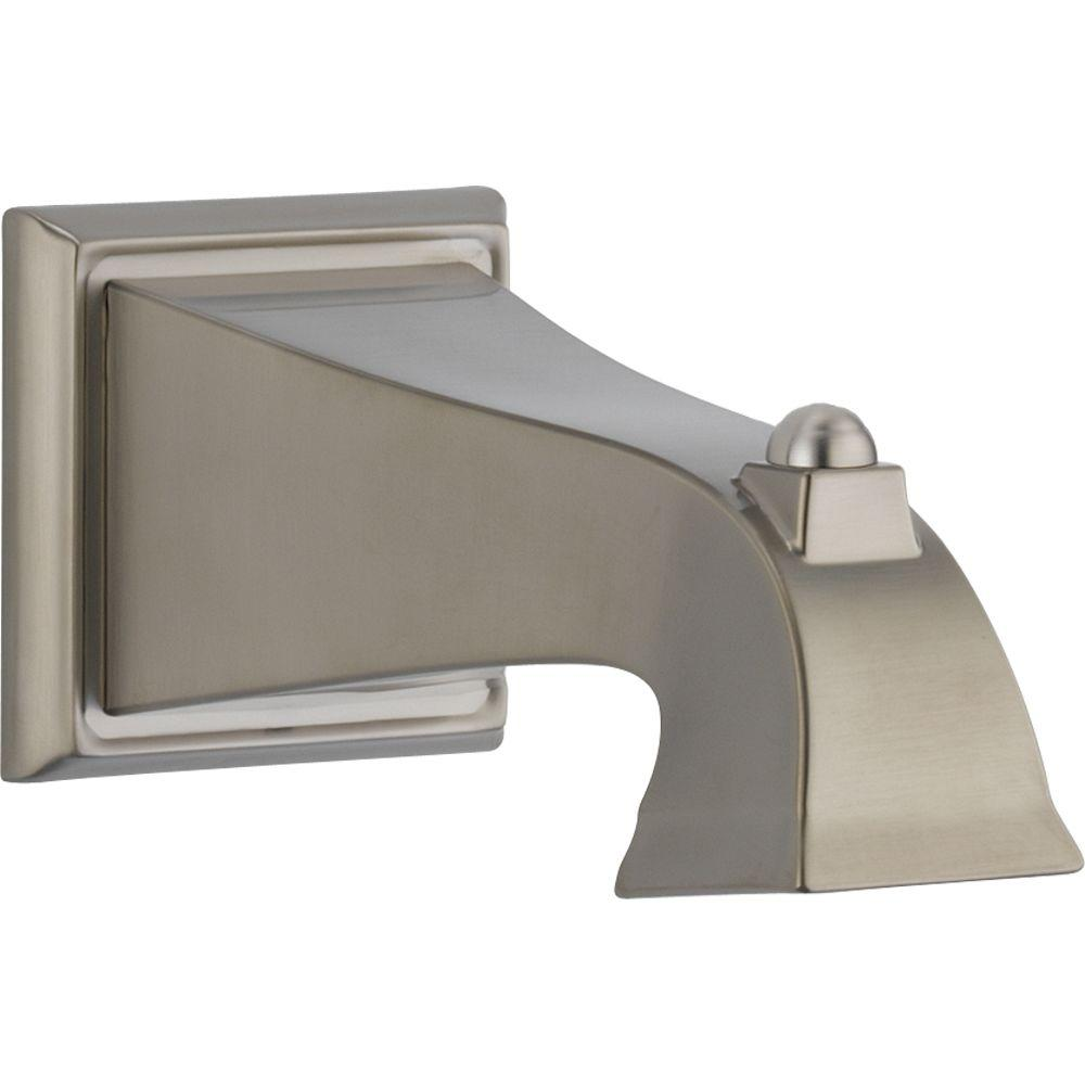 delta dryden 7 1 2 in non metallic non diverter tub spout in