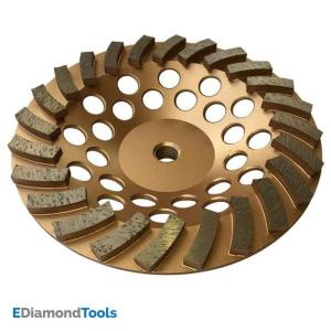 Click here to buy  7 inch Diamond Grinding Wheel for Concrete 24 Segments 5/8 in.-11 Arbor.
