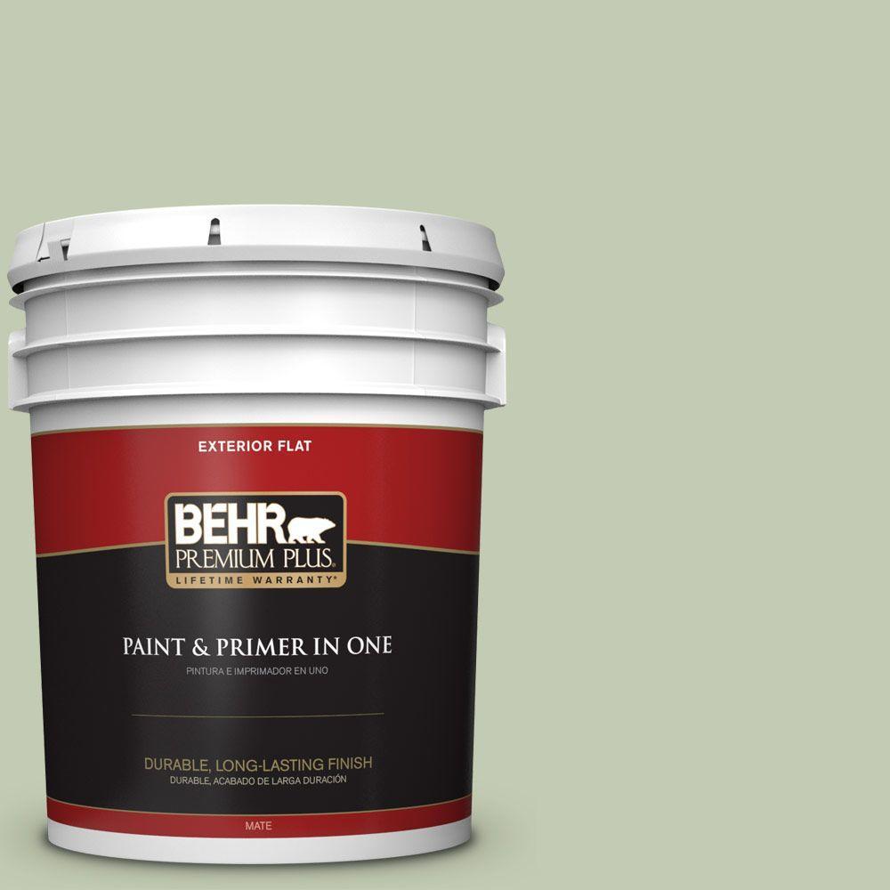 BEHR Premium Plus 5-gal. #420E-3 Spring Hill Flat Exterior Paint
