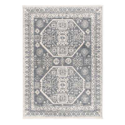 Contemporary Bohemian Design Gray 5 ft. x7 ft. Area Rug