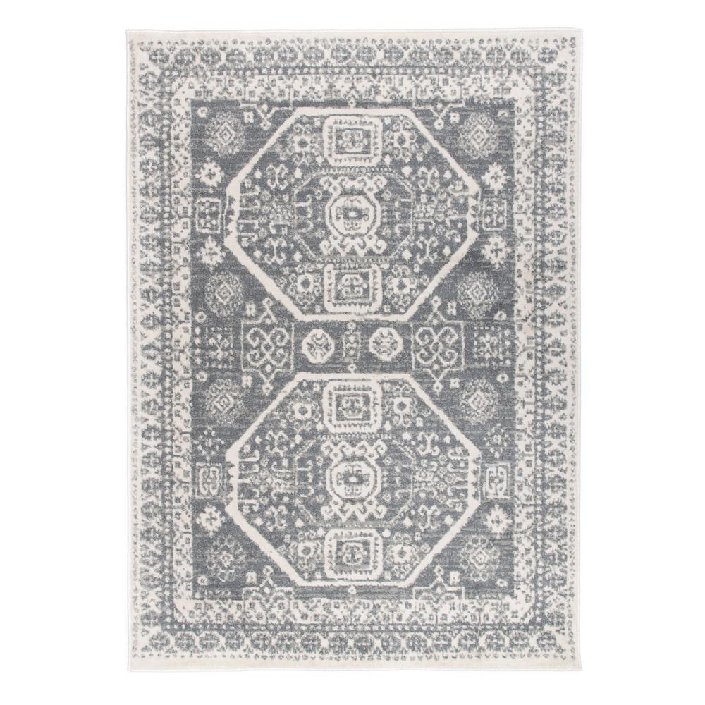 World Rug Gallery Contemporary Bohemian Design Gray 7 Ft 10 In