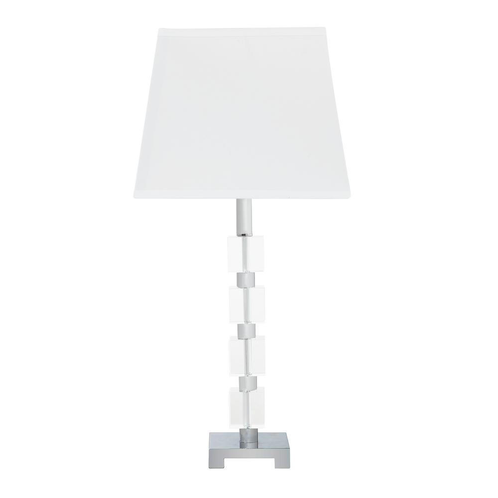 ORE International 25 in. Wendi Glam Crystal Cube Ice Table Lamp