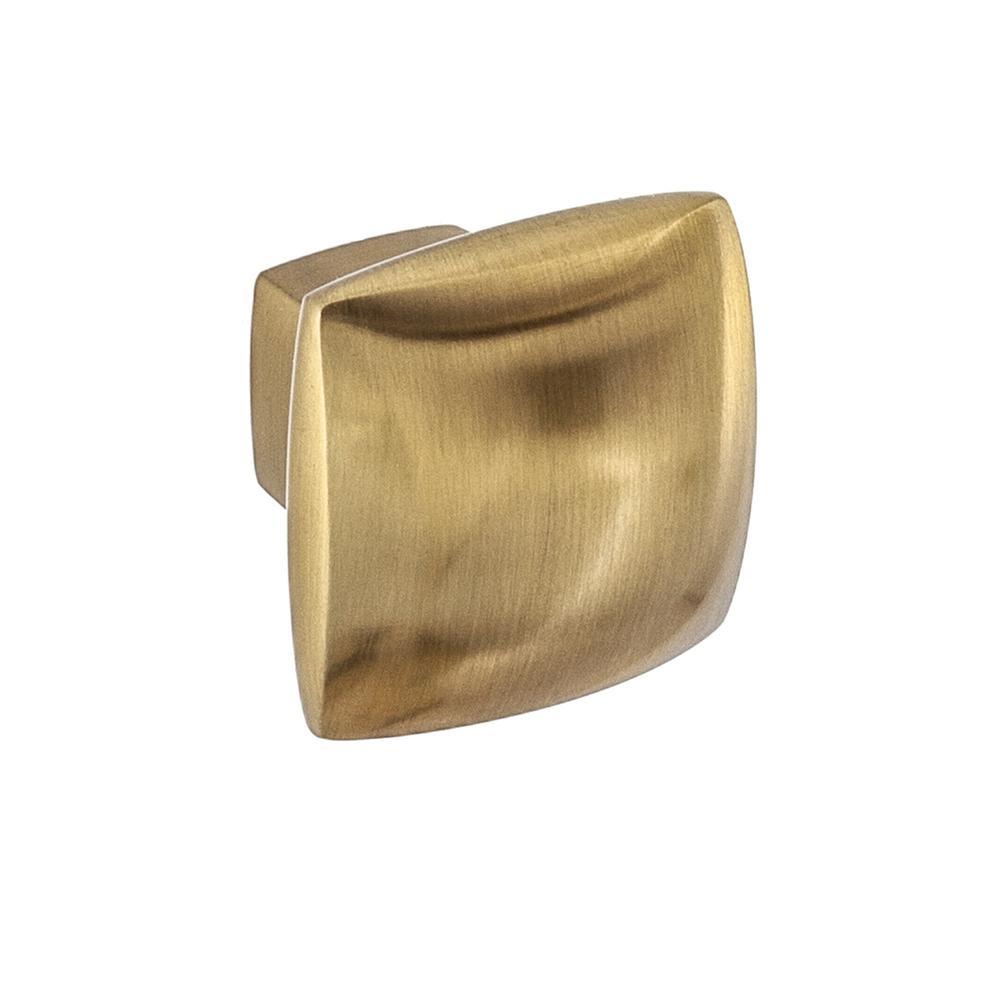 Boise 1-1/4 in. Satin Brass Square Cabinet Knob