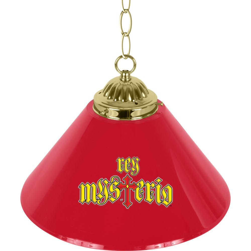 Trademark WWE Rey Mysterio 1-Light Red Single Shade Hanging Lamp