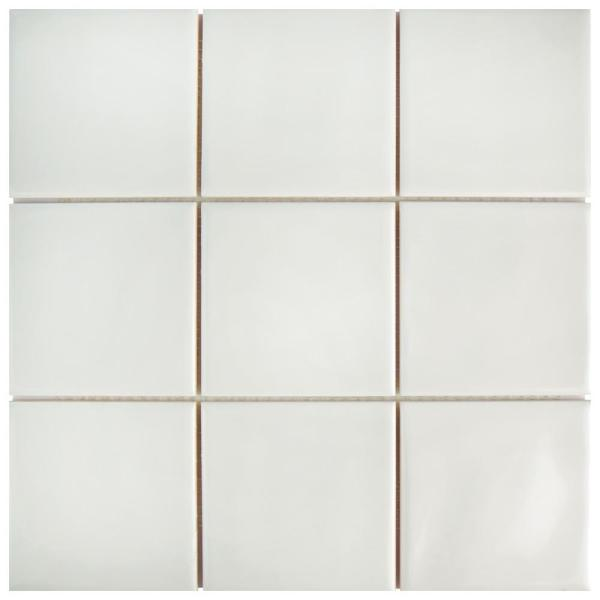 Twist Square Soft Cream 11-3/4 in. x 11-3/4 in. Ceramic Mosaic (9.79 sq. ft. /Case)