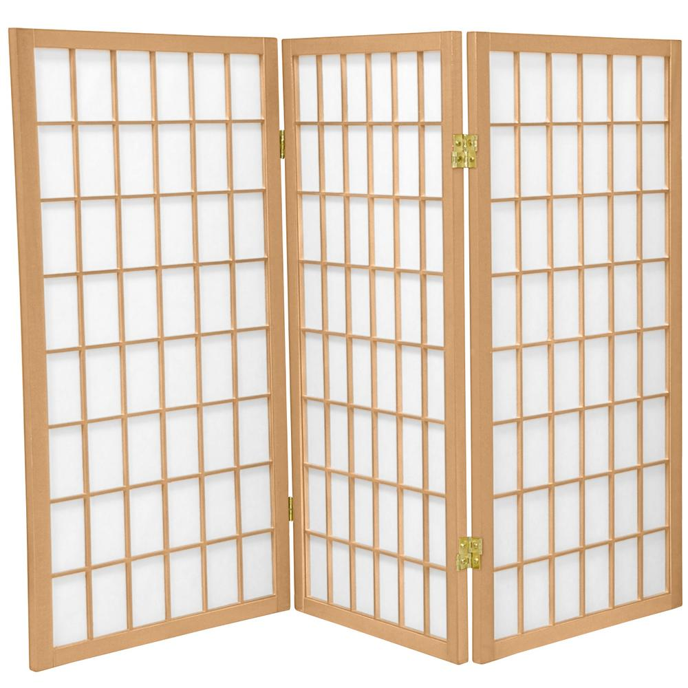 3 ft. Natural 3-Panel Room Divider