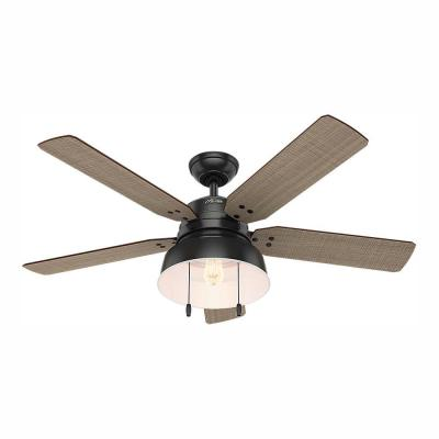 Mill Valley 52 in. LED Indoor/Outdoor Matte Black Ceiling Fan with Light