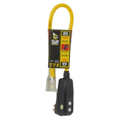 2 ft. 12/3 SJTW Right Angle GFCI Heavy-Duty Extension Cord with Power Light Plug