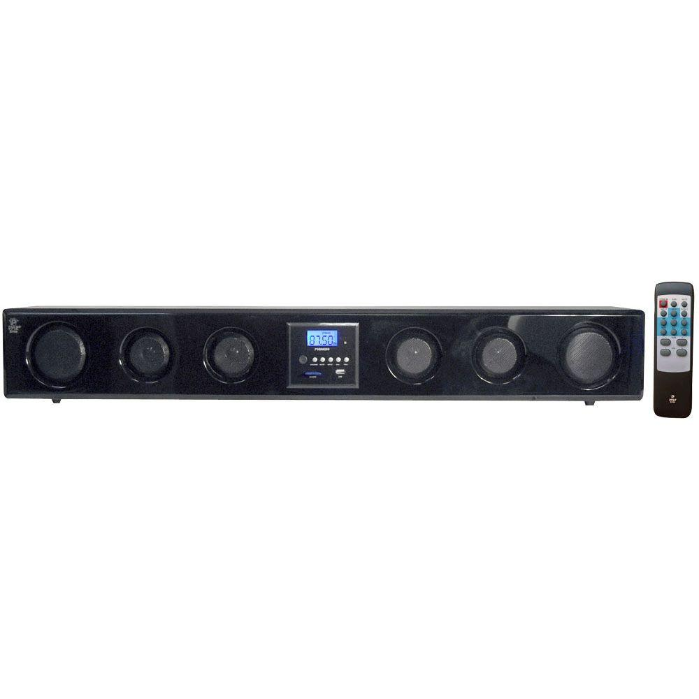 Pyle 6-Way 300 Watt Multi-Source Wall/Shelf Mount Sound Bar with USB, SD, MP3, FM Tuner-DISCONTINUED