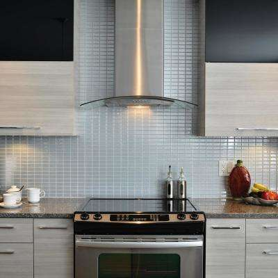 Stainless Approximately 3 in. W x 3 in. H Silver with Metallic Effect Decorative Mosaic Wall Tile Backsplash Sample