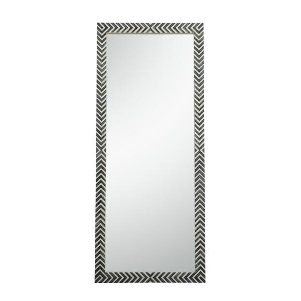 Oversized Rectangle Chevron Contemporary Mirror (72 in. H x 30 in. W)