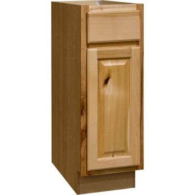 Merveilleux Hampton Bay Hampton Assembled 12x34.5x24 In. Base Kitchen Cabinet With  Ball Bearing Drawer Glides In Natural Hickory