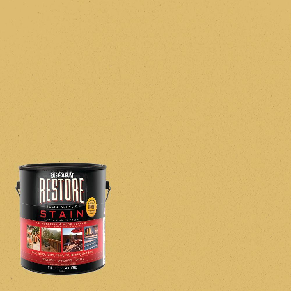 Rust-Oleum Restore 1 gal. Maize Solid Acrylic Exterior Concrete and Wood Stain