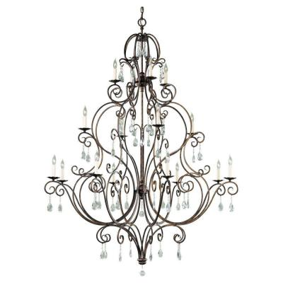 Chateau 16-Light Mocha Bronze Chandelier