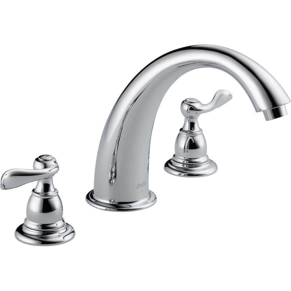 Delta Windemere 2 Handle Deck Mount Roman Tub Faucet Trim