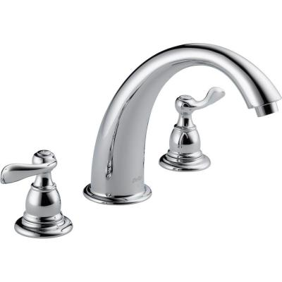 Windemere 2-Handle Deck-Mount Roman Tub Faucet Trim Kit Only in Chrome (Valve Not Included)