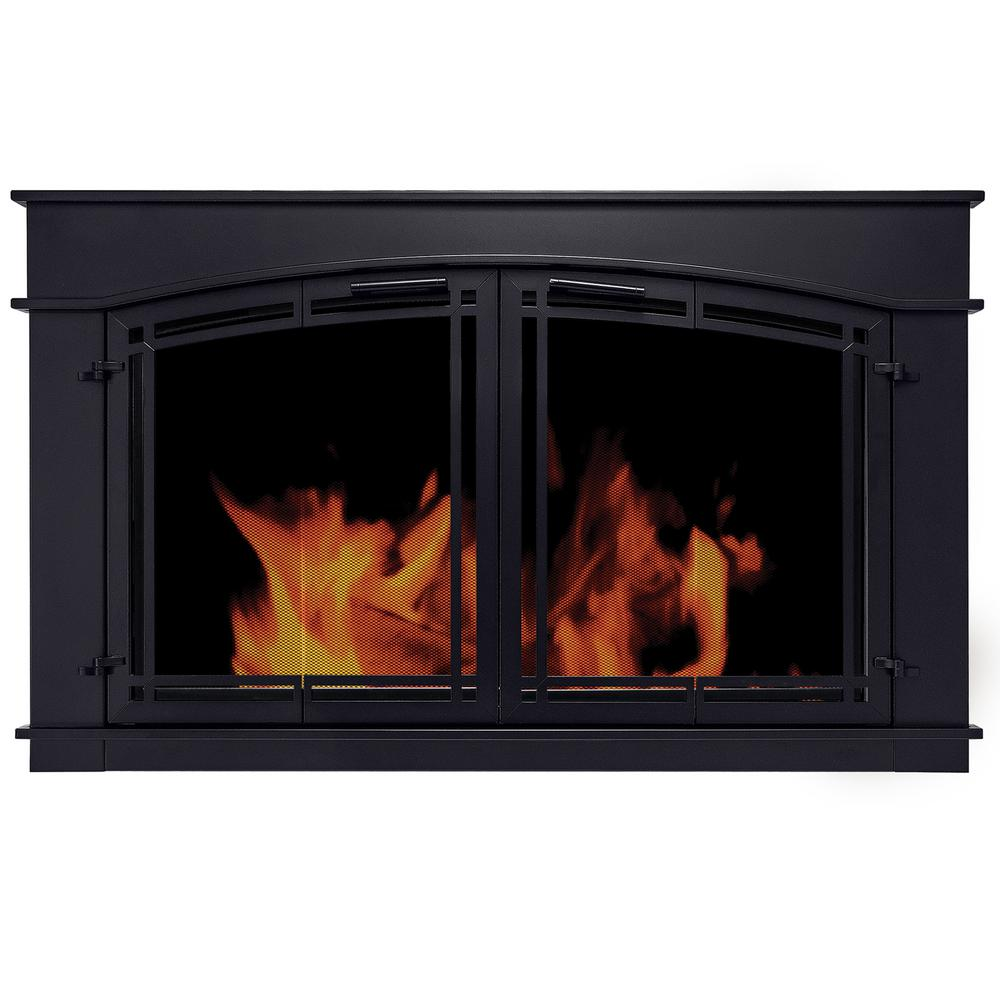 Pleasant Hearth Fieldcrest Medium Glass Fireplace Doors