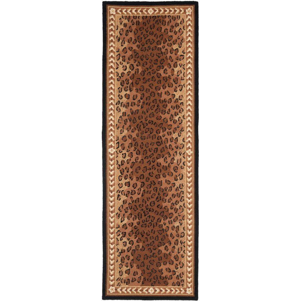 Chelsea Black/Brown 3 ft. x 10 ft. Runner Rug