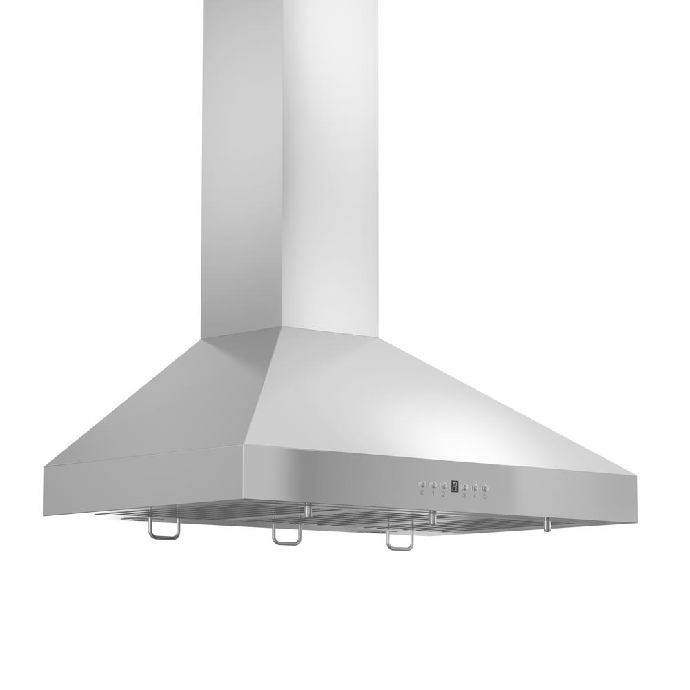 Zline Kitchen And Bath Zline 36 In Wall Mount Range Hood In Stainless Steel With Crown Molding Kl3crn 36 Kl3crn 36 The Home Depot