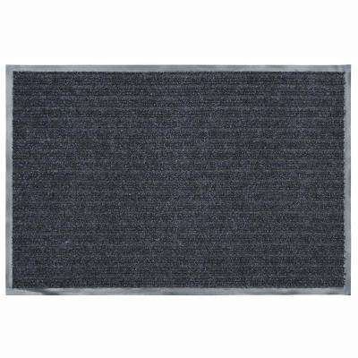 24 in. x 36 in. Charcoal Commercial Door Mat