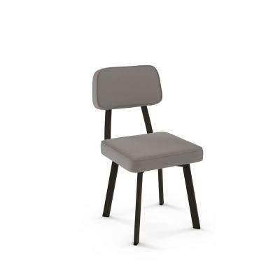Clarkson Brown Metal Grey Cushion Dining Chair