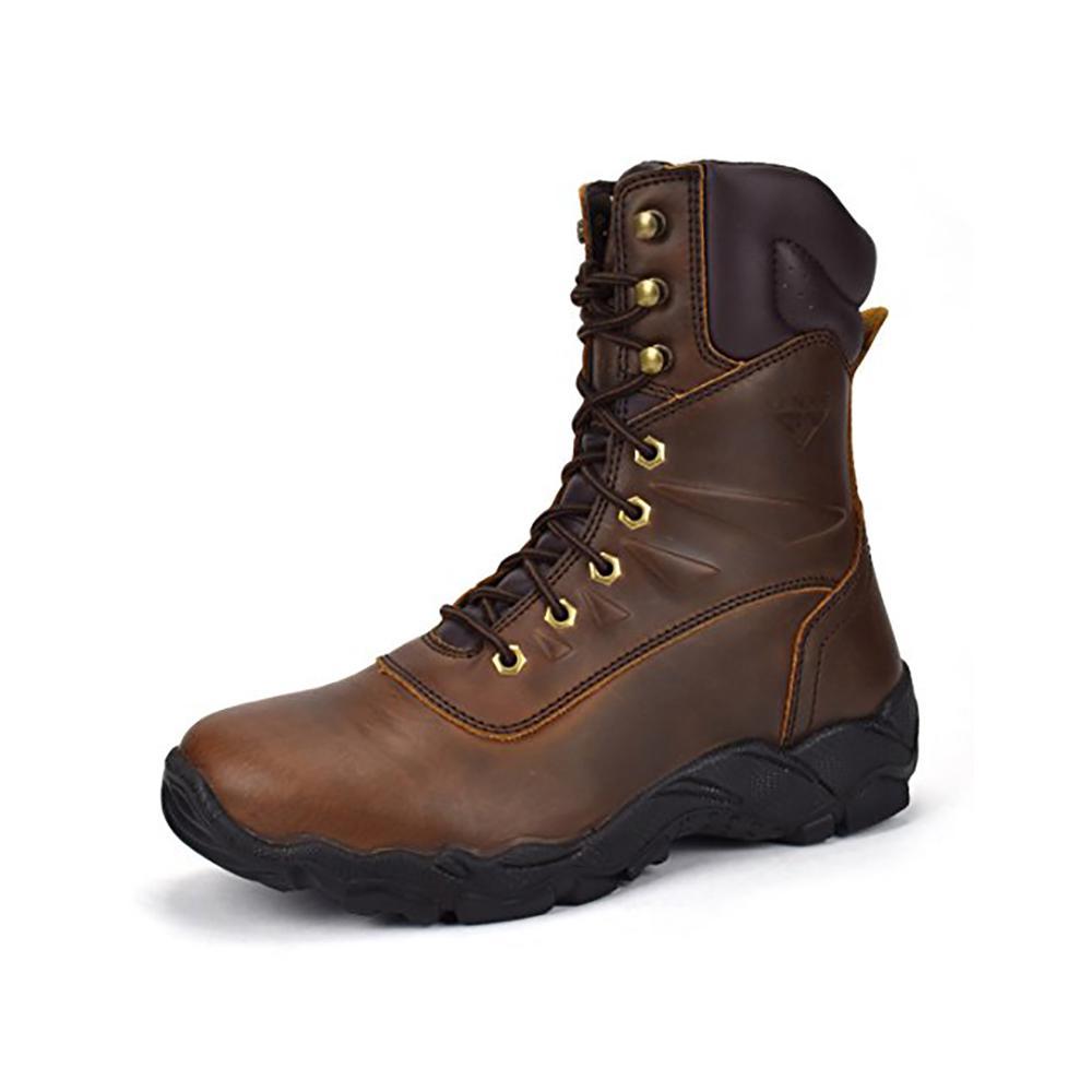 Men's 8 in. Brown Size 13 E US Steel Toe Work Boot