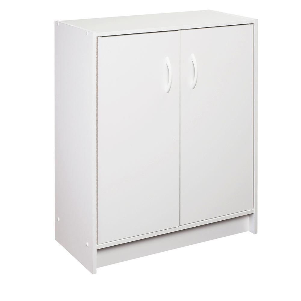 Closetmaid 24 09 in x 31 5 in white stackable 2 cube door organizer