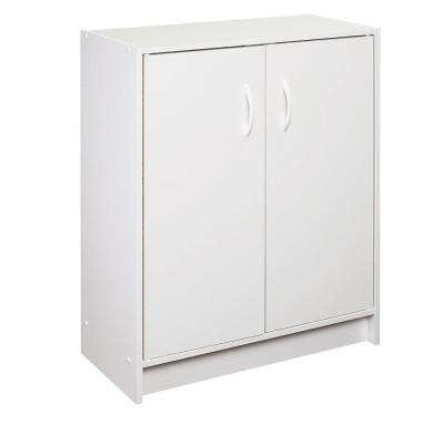 24.09 in. x 31.5 in. White Stackable 2-Cube Door Organizer