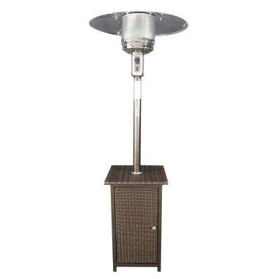 41,000 BTU Gas Patio Heater with Wicker Stand