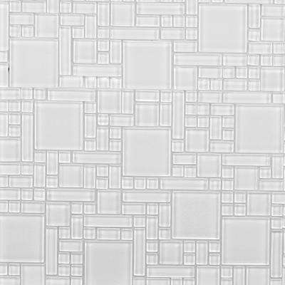 12 in. x 12 in. Peel and Stick Glass Wall Tile (6 sq. ft. / case)