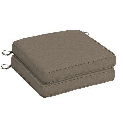 20 x 20 Sunbrella Cast Shale Outdoor Chair Cushion (2-Pack)