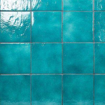 Appaloosa Carribean Blue 7 in. x 7 in. 10mm Polished Porcelain Floor and Wall Tile (30-piece 10.43 sq. ft. / box)