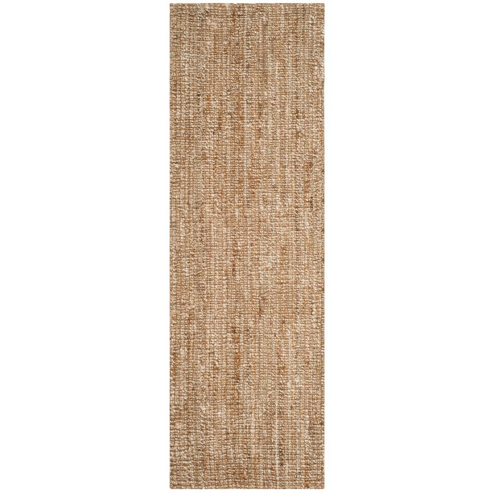 Natural Fiber Beige/Ivory 2 ft. 6 in. x 22 ft. Runner Rug