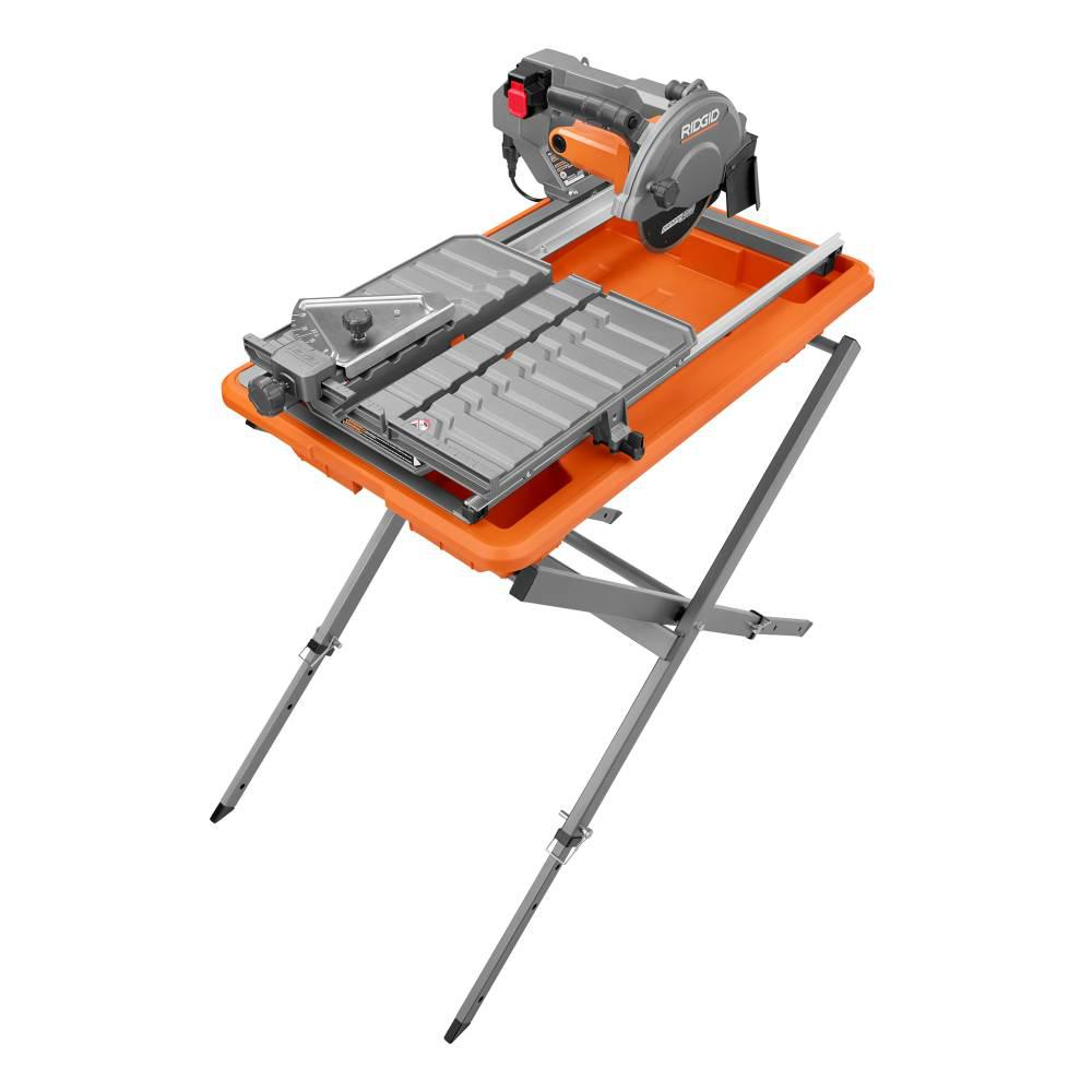 Ridgid 9 Amp Corded 7 In Wet Tile Saw With Stand R4031s