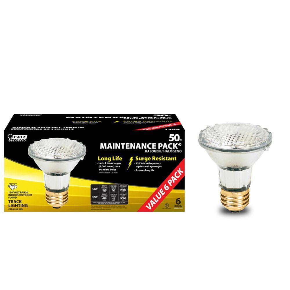 Feit Electric 50-Watt Par20 Reflector Halogen Light Bulb (24-Pack)-DISCONTINUED