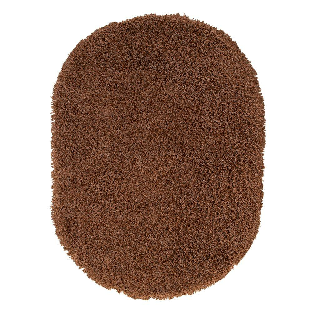 Ultimate Shag Light Brown 5 ft. x 7 ft. Oval Area
